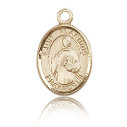 14kt Yellow Gold 1/2in St Placidus Charm
