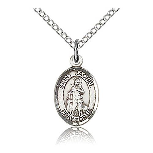 Sterling Silver 1/2in St Rachel Charm & 18in Chain