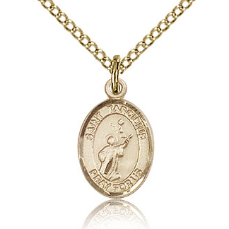 Gold Filled 1/2in St Tarcisius Charm & 18in Chain