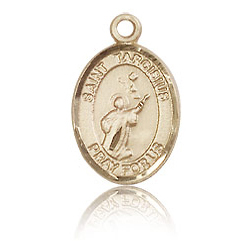 14kt Yellow Gold 1/2in St Tarcisius Charm