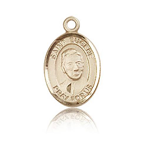 14kt Yellow Gold 1/2in St Eugene Medal