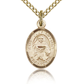 Gold Filled 1/2in St Julia Billiart Charm & 18in Chain