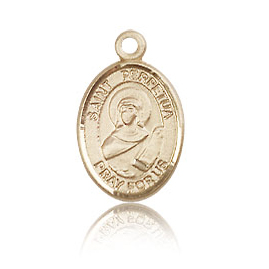 14kt Yellow Gold 1/2in St Perpetua Charm