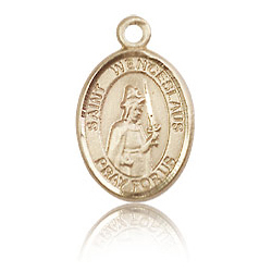 14kt Yellow Gold 1/2in St Wenceslaus Charm