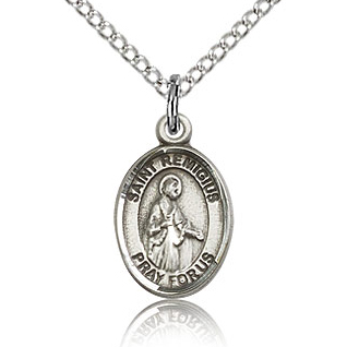 Sterling Silver 1/2in St Remigius of Remis Charm & 18in Chain