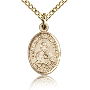 Gold Filled 1/2in St James the Lesser Charm & 18in Chain