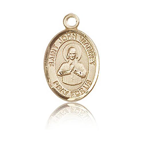 14kt Yellow Gold 1/2in St John Vianney Charm