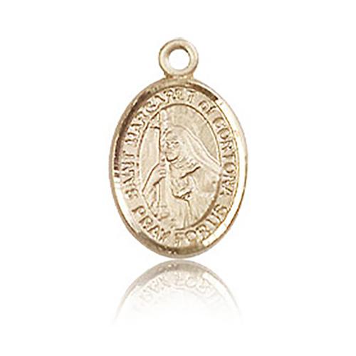 14kt Yellow Gold 1/2in St Margaret of Cortona Charm