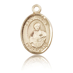 14kt Yellow Gold 1/2in St Pius X Charm