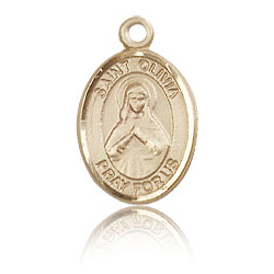 14kt Yellow Gold 1/2in St Olivia Charm