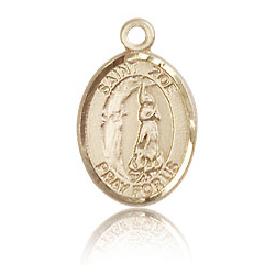 14kt Yellow Gold 1/2in St Zoe of Rome Charm