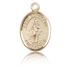 14kt Yellow Gold 1/2in St Cornelius Medal
