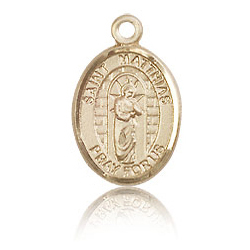 14kt Yellow Gold 1/2in St Matthias Charm