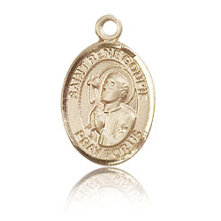 14kt Yellow Gold 1/2in St Rene Goupil Charm