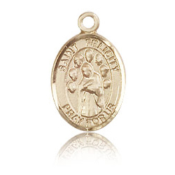 14kt Yellow Gold 1/2in St Felicity Charm