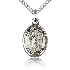 Sterling Silver 1/2in St Joachim Charm & 18in Chain