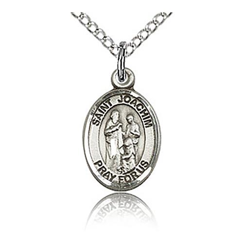 Sterling Silver 1/2in St Joachim Charm & 18in Chain