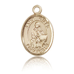 14kt Yellow Gold 1/2in St Giles Charm