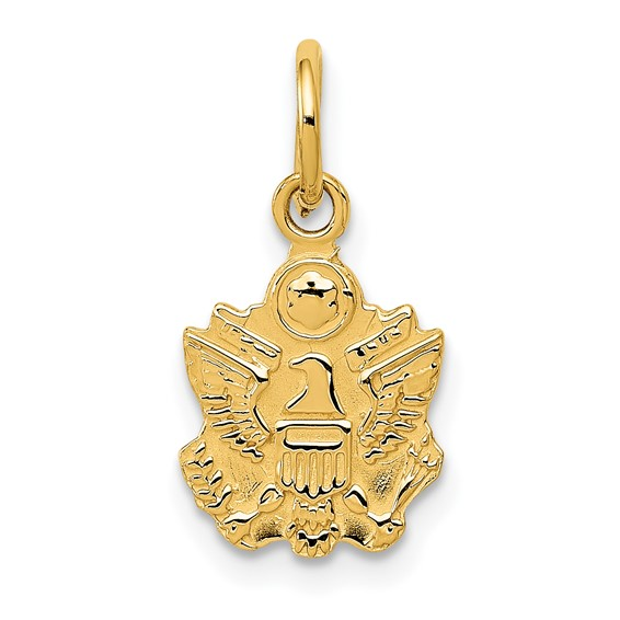 14kt Yellow Gold 3/8in U.S. Army Eagle Charm