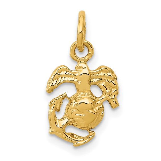 14kt Yellow Gold 3/8in U.S. Marine Corps Charm