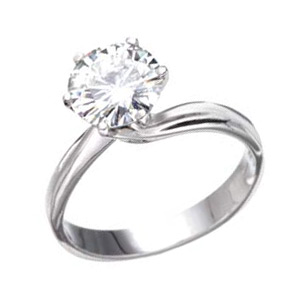 2.00 CT TW 18k Gold Moissanite Ring