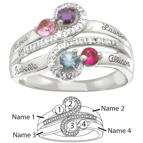 S Curve Mothers Ring