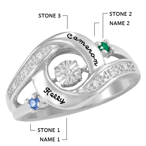 Sterling Silver Prized Promise Ring