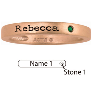 Rose Gold Plated Sterling Silver Simple Stackable Ring