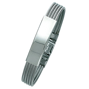 Stainless Steel 8 3/4in ID Cable Bracelet