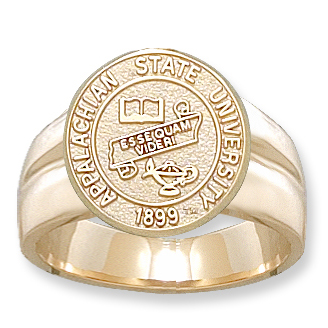 10kt Yellow Gold Appalachian State Seal Men's Ring