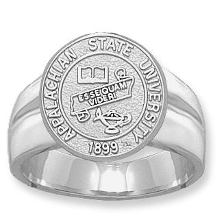 Sterling Silver Appalachian State Seal Men's Ring