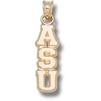 10kt Yellow Gold 3/4in Appalachian State ASU Pendant