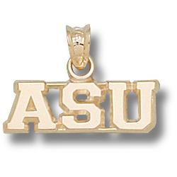 14kt Yellow Gold 1/4in Appalachian State ASU Pendant