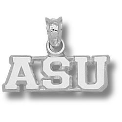 Sterling Silver 1/4in Appalachian State ASU Pendant