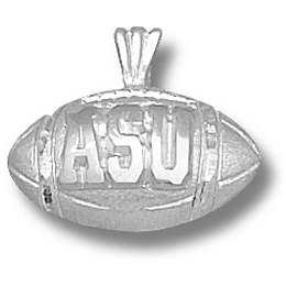 Sterling Silver 1/2in Appalachian State Football Pendant