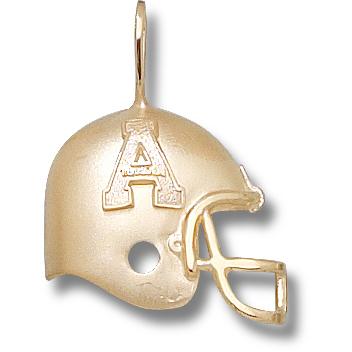 10kt Yellow Gold 3/4in Appalachian State Helmet Pendant