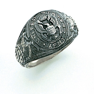 Sterling Silver U.S. Army Eagle Ring