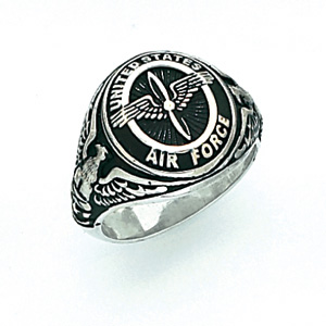 Sterling Silver U.S. Air Force Ring with Antique Finish
