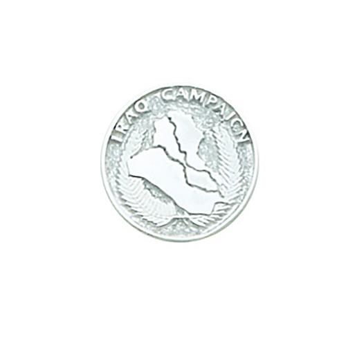 Iraq Campaign Tie Tac - Sterling Silver