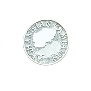 Afghanistan Campaign Tie Tac - Sterling Silver