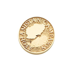 Yellow Gold Plated Afghanistan Campaign Tie Tac