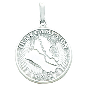 Sterling Silver 7/8in Iraq Campaign Medal