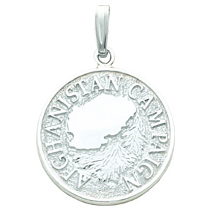 7/8in Afghanistan Campaign Medal - Sterling Silver