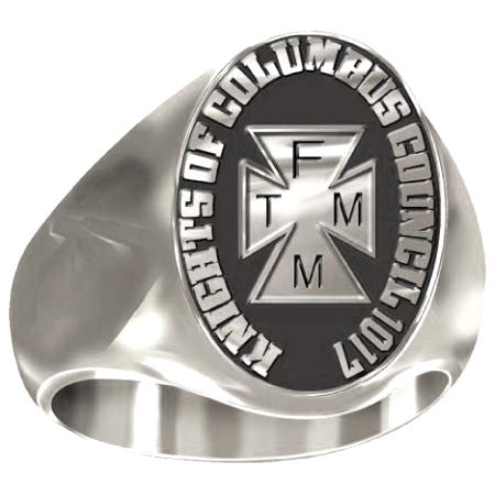 Artisan K of C TFMM Ring - Siladium