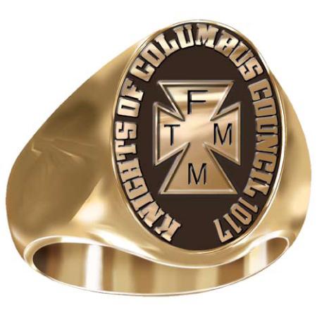 Artisan K of C TFMM Ring - 10kt Yellow Gold