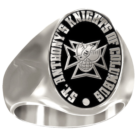 Artisan 4th Degree K of C Ring - 10kt White Gold