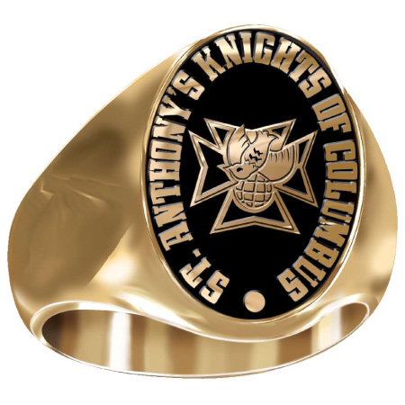 Artisan 4th Degree K of C Ring - 14kt Yellow Gold