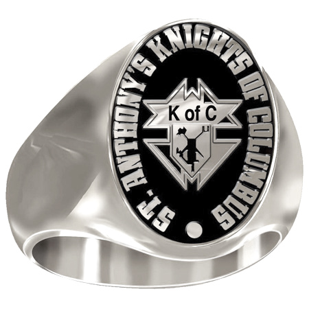Artisan Knights of Columbus Ring 14kt White Gold