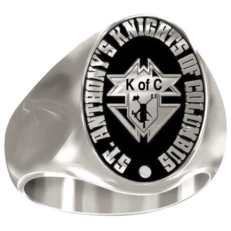 Artisan Knights of Columbus Ring Siladium