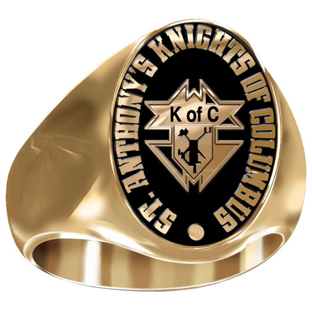 Artisan Knights of Columbus Ring 14kt Yellow Gold
